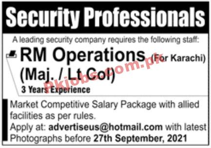 Jobs In Leading Security Company