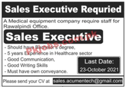 Jobs In Medical Equipment Company