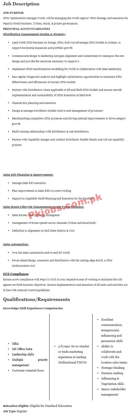 Pepsico Pk Jobs 2021 | Pepsico Pakistan Company Headquarters Announced