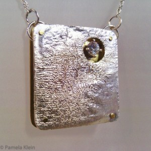 Riveted Reticulated Silver Pendant