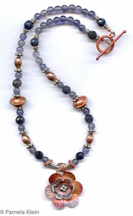 Copper & Iolite Necklace