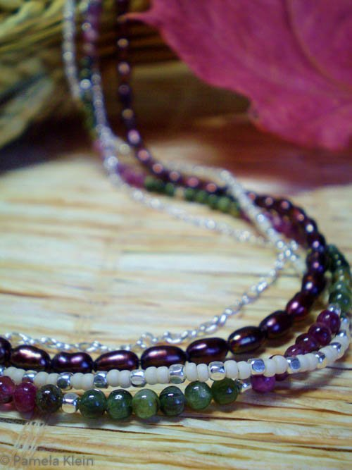 Tormaline Pearl Necklace