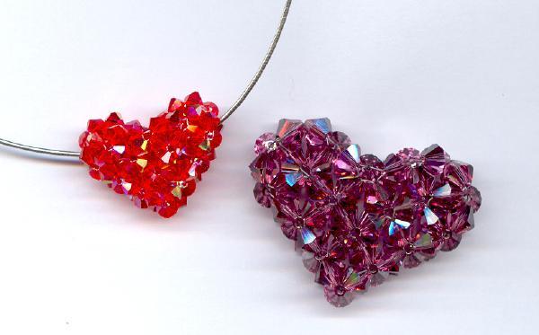 Crystal Puffy Hearts