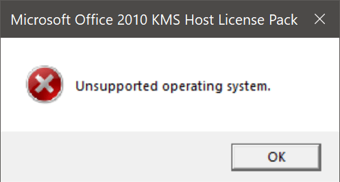 Install KMS Host License Pack for Office 2010 on Windows