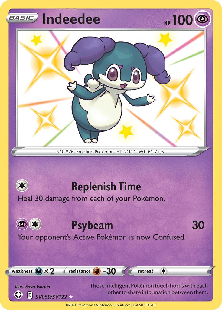 Purple Pokemon With Horns : purple, pokemon, horns, Indeedee, PkmnCards