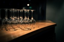Glasses lined up