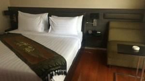 宿泊したホテルの部屋