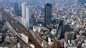 名古屋駅周辺上空画像