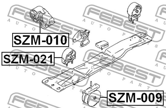 SZM-021 VORDERMOTORLAGER FÜR SUZUKI. OE-Vergleichsnummern