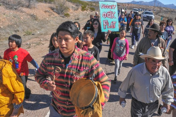 SAN CARLOS APACHE MARCH TO OCCUPY OAK FLAT PROMISE A FIGHT