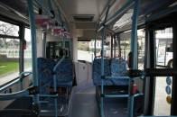 Elektrobus SOR EBN 8 - Innenansicht von hinten nach vorn