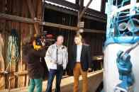 rbb-Fernsehen dreht für einen Bericht zum Gründungsschiff der Hertha bei FGS Fahrgastschiffe in Wusterhausen-Dosse