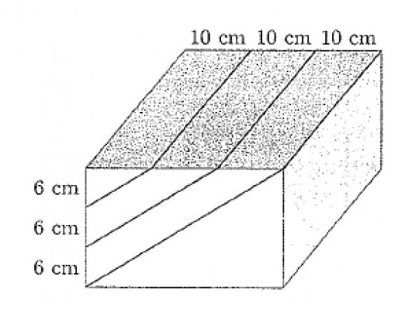 Prostopadłościenny drewniany klocek o wymiarach 18 cm x 30