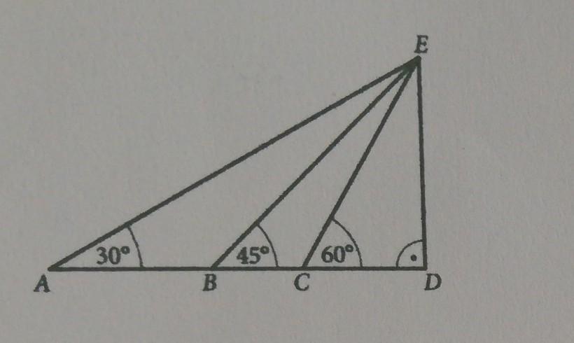 Pole trójkąta BDE jest równe 4 pierwiastek 3 cm2. Oblicz