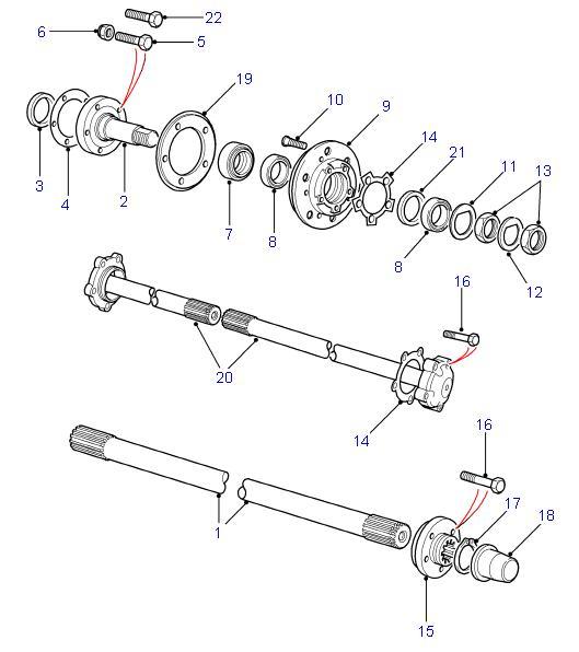 Land Rover Defender 90 110 Rear Axle Components Parts