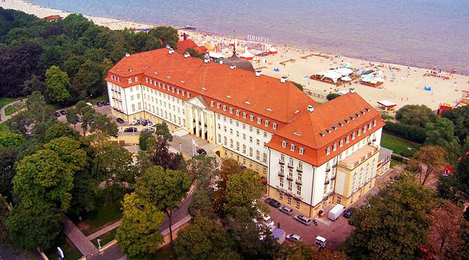 Grand Hotel w Sopocie widziany z góry