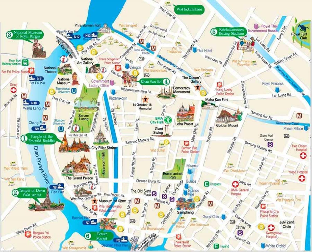 Bangkok Atrakcje Na Mapie