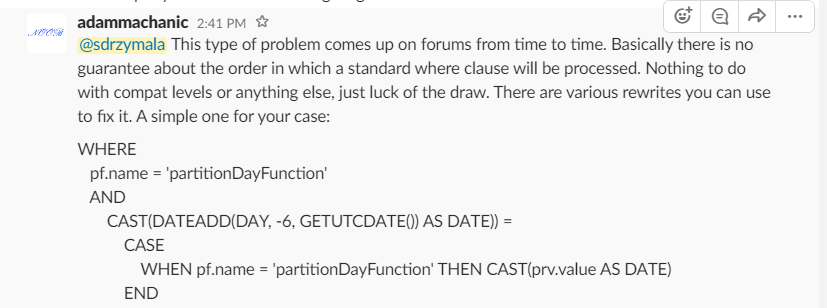 Convert partition function value