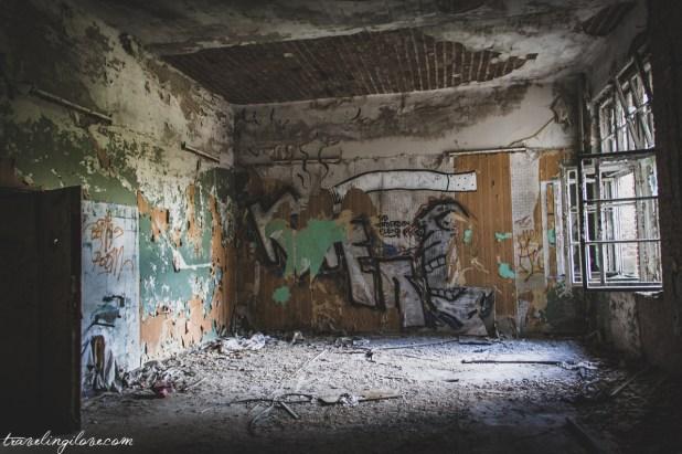 Murale w budynkach Beelitz Heilstätten