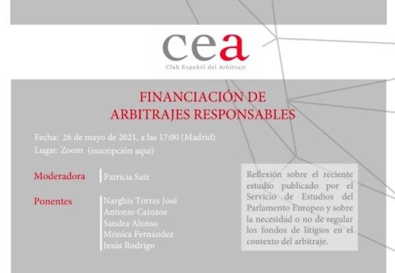 financiación de arbitrajes responsables