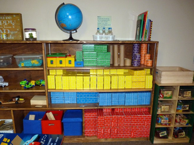 Blocks– I'm developing motor skills, math concepts (number, size, shape, space), oral language, social skills. eye-hand coordination, self control, and my imagination. I may be a builder or architect when I'm grown.