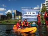Greenpeace actie tegen Shell kayak