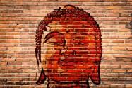 Boeddha, grafity, muur, muurschildering, foto Pixabay