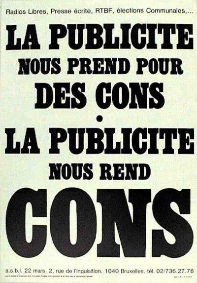 On Nous Prend Pour Des Cons : prend, Publicité, Prend, Cons,, Ficedl, Affiches