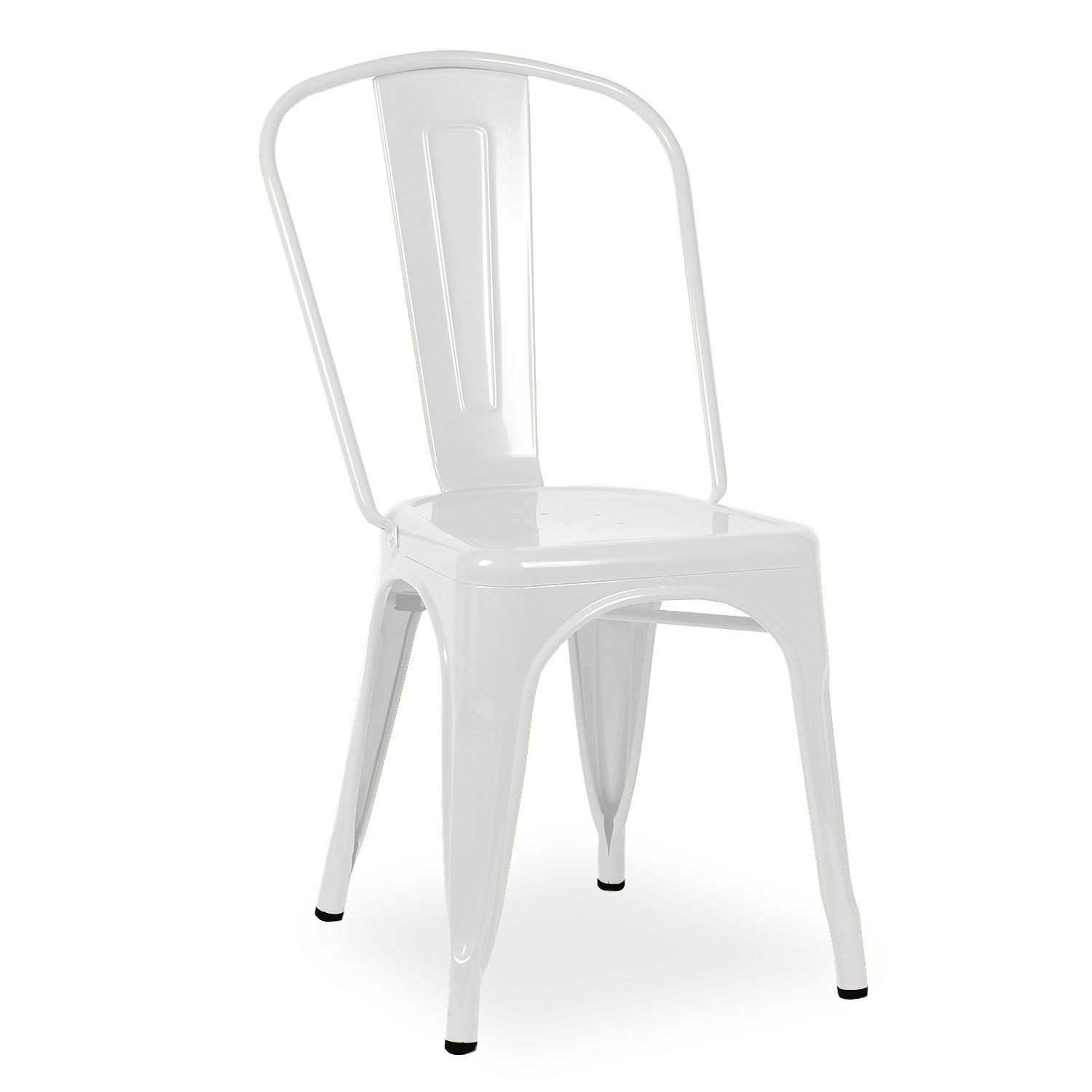 White Metal Chair Replica Xavier Pauchard Tolix Chair