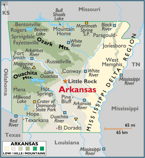 ARKANSAS PLACES AND THINGS