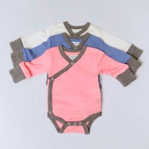 0-3months Merino Wool Newborn Baby bodysuits (Cornflower Blue)