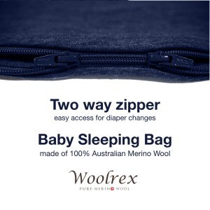 12-36 months Baby Sleeping Bag 110cm (denim dark blue)