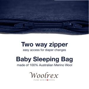 12-36 months Baby Sleeping Bag 110cm (denim dark blue)