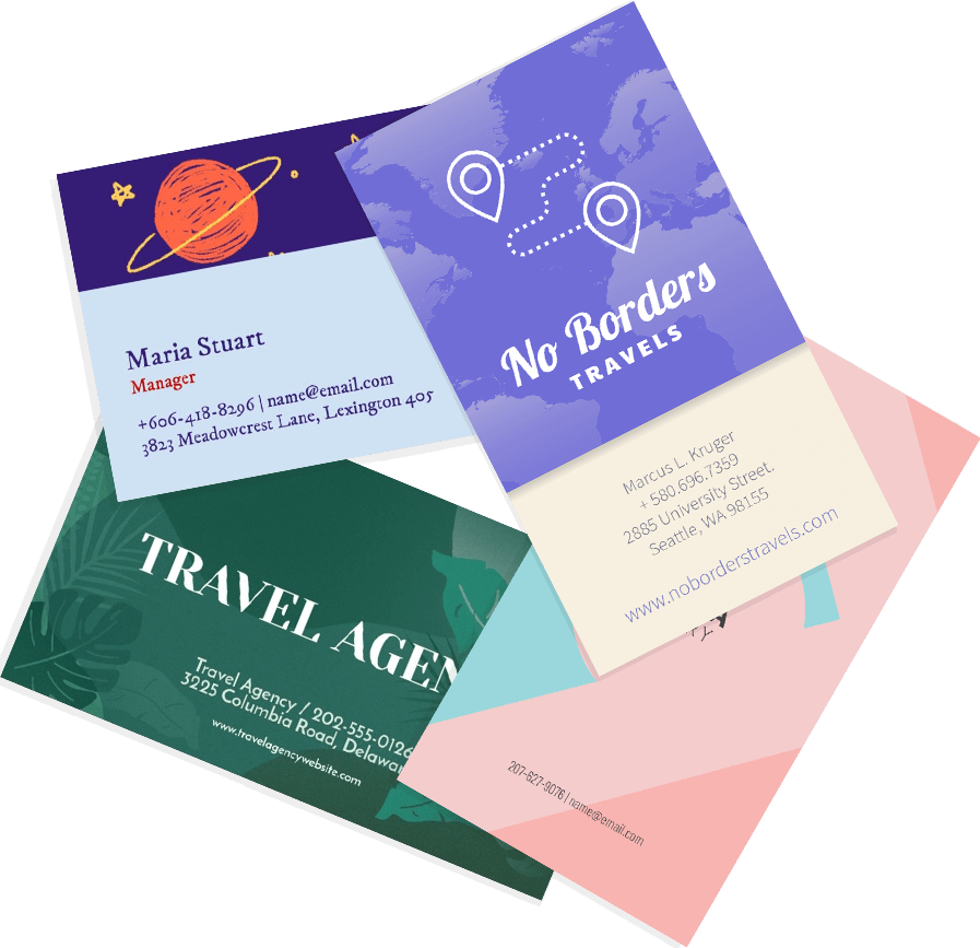 business card maker create