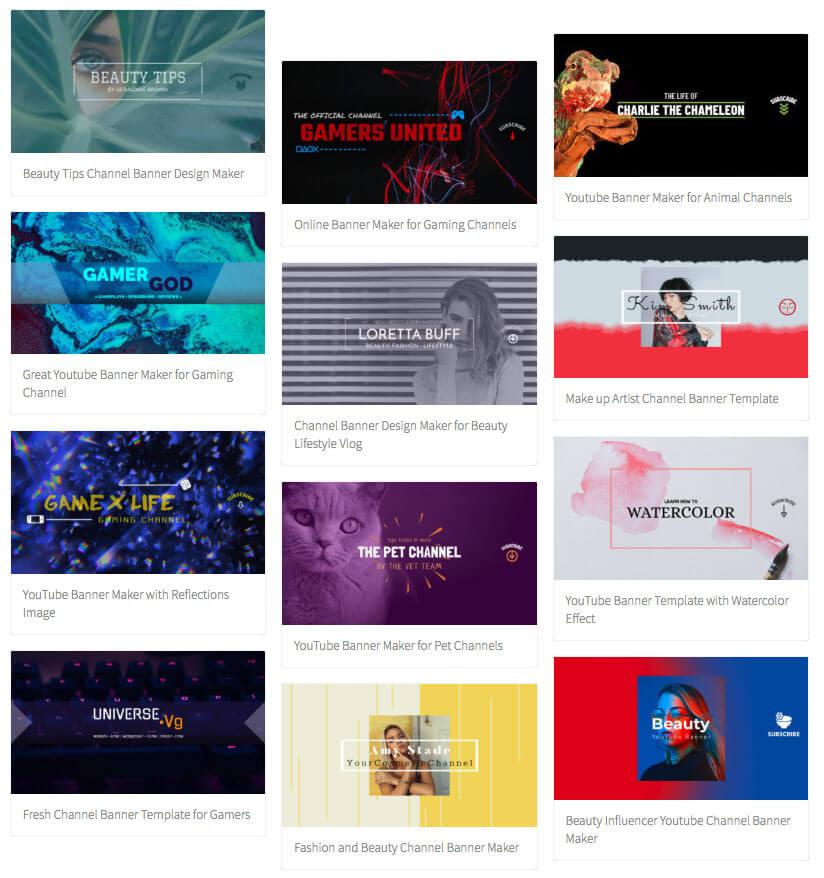 youtube banner maker brand