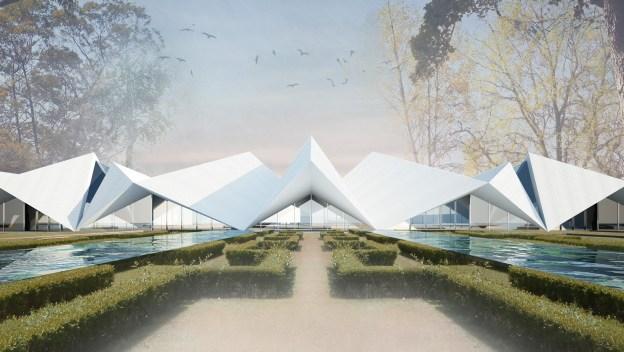 Proposta SUBVERT STUDIO para o novo edificio de recepção do Portugal dos Pequenitos
