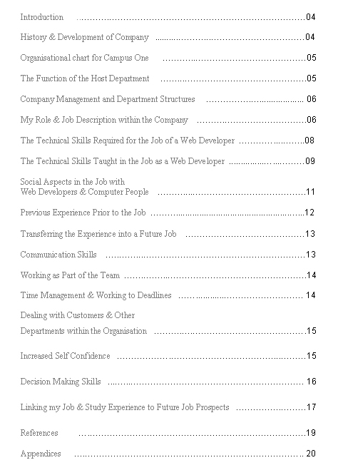 Writing a dissertation contents page