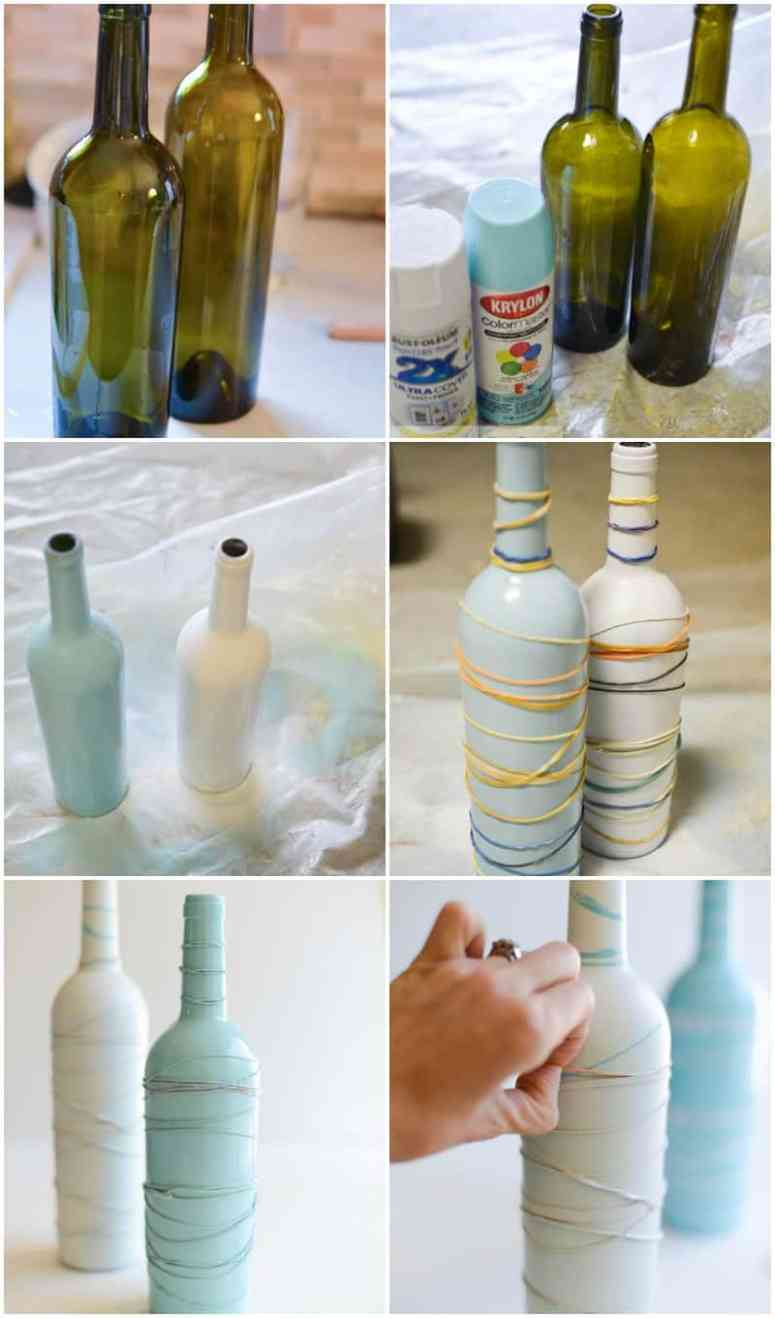 Wine bottles to pretty vases