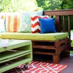 Do It Yourself Patio Chair Cushions Coloured Dining Room Chairs Diy Pallet Furniture A Makeover Www Placeofmytaste Com