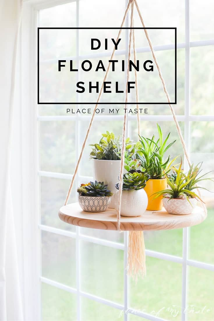 diy floating shelves for my living room modern country decorating ideas shelf to display your plants or other decor items 5