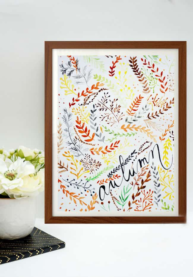 Free Autumn Art Printable | Place of my Taste