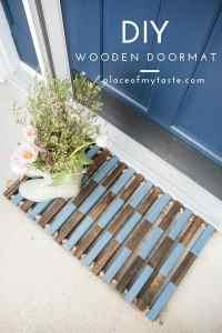 HOW TO MAKE A DIY WOODEN DOOR MAT - PLACE OF MY TASTE