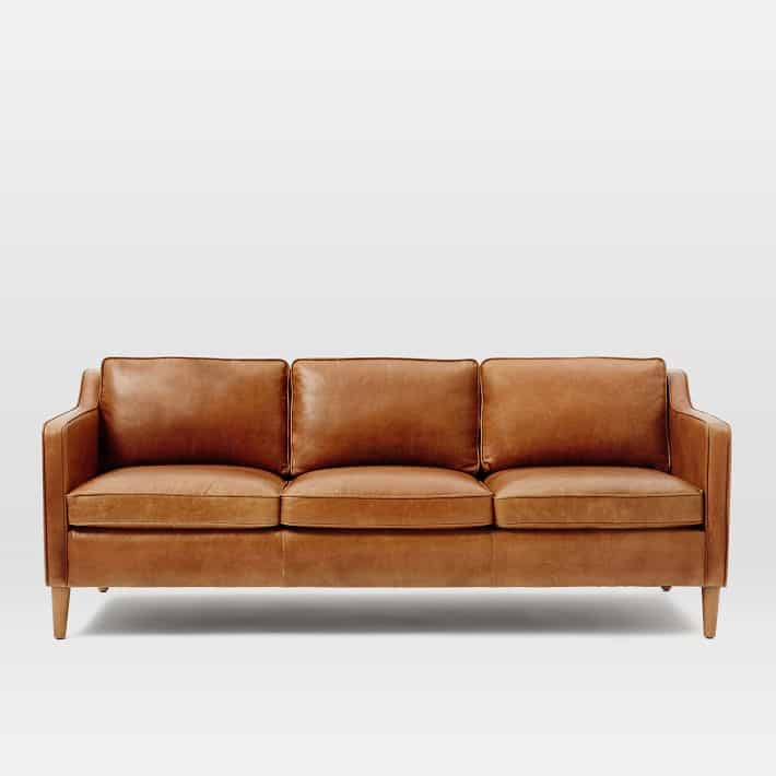 TAN LEATHER SOFAS I love all these fun and modern leather