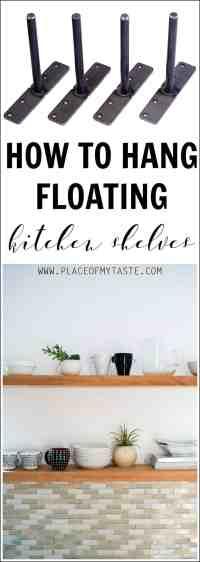Learn how to hang open kitchen shelves - floating shelves ...