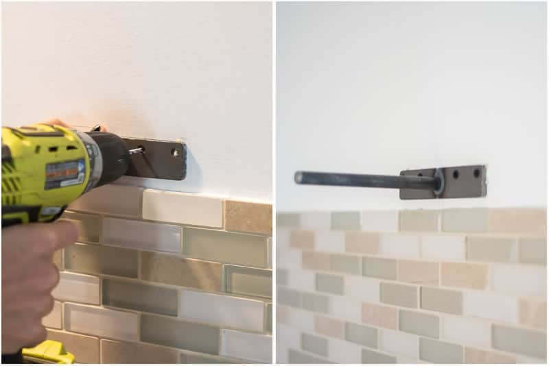 kitchen shelf brackets washable rugs learn how to hang open shelves floating an easy way and when the were secured we pulled on that was it my friends right