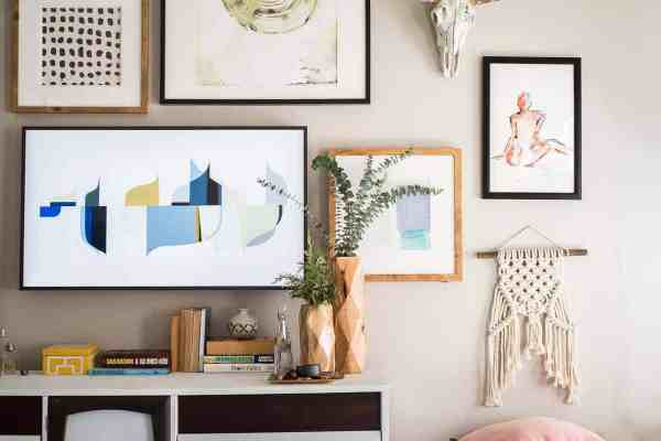 Amazing Wall With Frame Tv