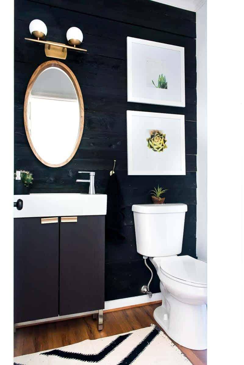 Shiplap Accent Wall Bathroom Architecture Home Decor