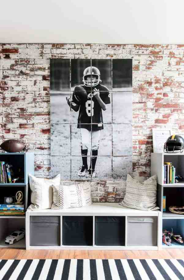 large wall art made with multiple pages