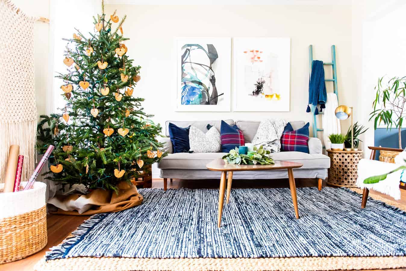Cozy Living Room For The Holidays With Ikea Place Of My Taste