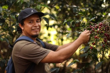 Jose on his coffee farm